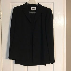 Kasper Black suit.